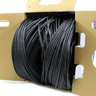 cat5e cmp plenum rated black cable 1000ft tup2404p03bl