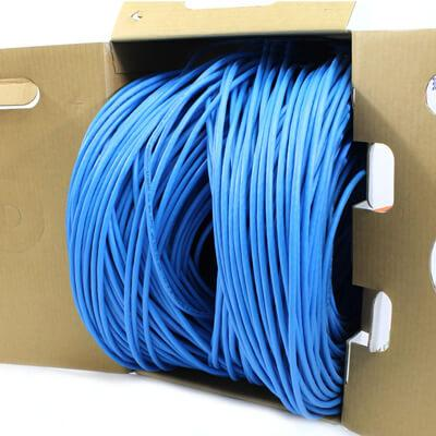 Cat5e cmp plenum cmp 24awg cable in pull box