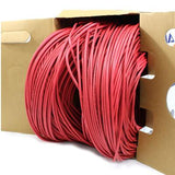 red bulk ethernet cable cat5e plenum 24awg tup2404p03re
