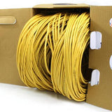 yellow cat5e utp cmp bulk ethernet cable tup2404p03ye