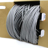 gray cat6 utp plenum rated bulk cable 1000ft tup2404n70gy