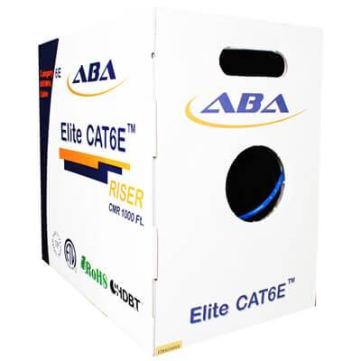 cat6e riser cable in an easy to pull box 1000 Feet