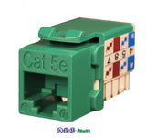 cat5e 90 degree keystone jack 8p8c green KJ-E8-C5EAB-GR