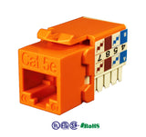 cat5e 90 degree keystone jack 8p8c orange KJ-E8-C5EAB-OR