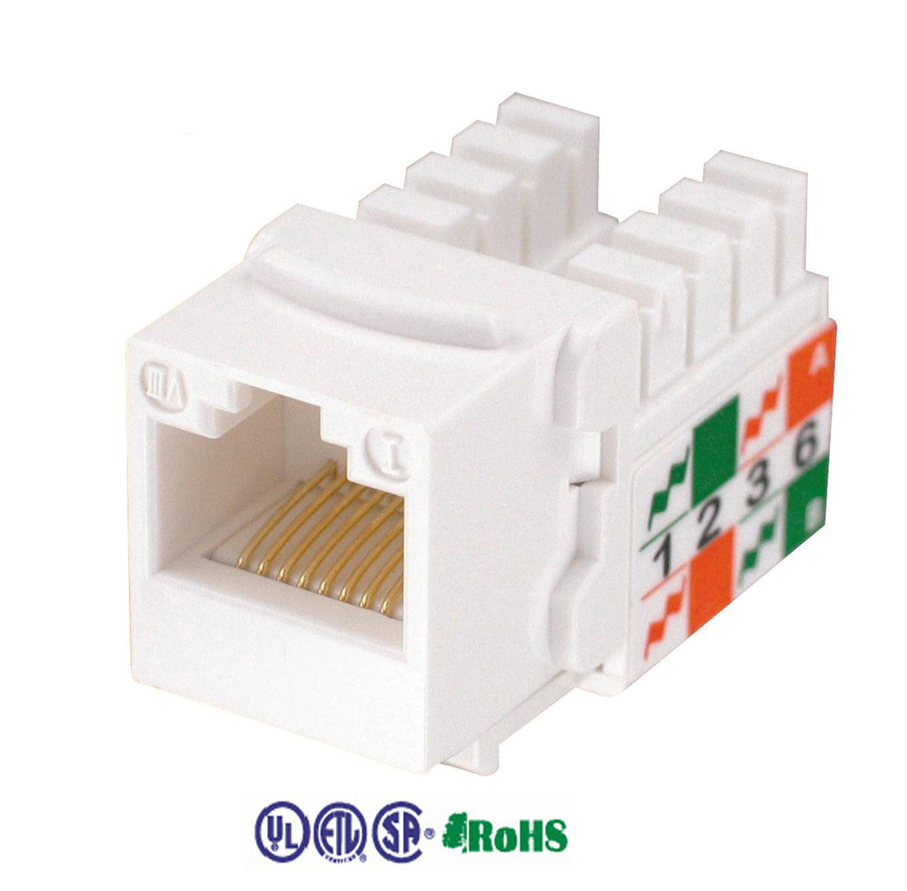 cat5e keystone jack 90 degree 8p8c white KJ-E8-C5EAB-WH
