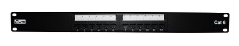 cat6 patch panel 12 port 19 inch rack 1U