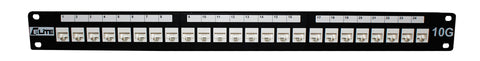 "CAT6A UTP 24 Port Patch Panel 19"" Rack Mount"