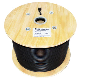 RG59/U 20AWG Solid Braiding Control Coaxial Cable 1000 ft. black