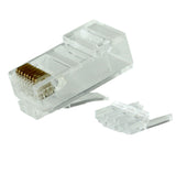CAT6 RJ45 Plug Long Body w/Loading Bar, Bag of 50