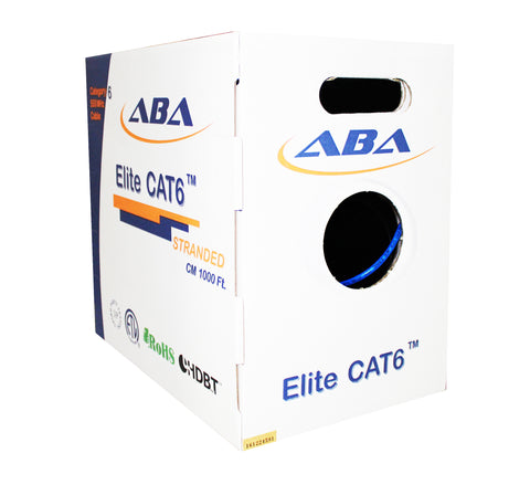 blue cat6 stranded bulk cable ethernet