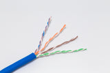 close up of cat6 stranded cm rated bulk cable
