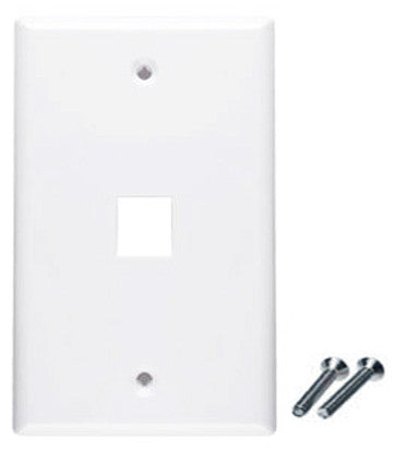 white wall plate 1 port