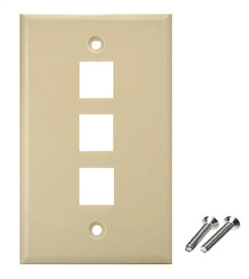 ivory color wall plate 3 port