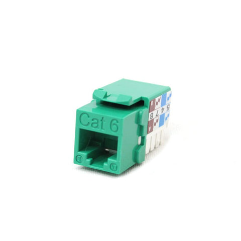 cat6 utp keystone jack green