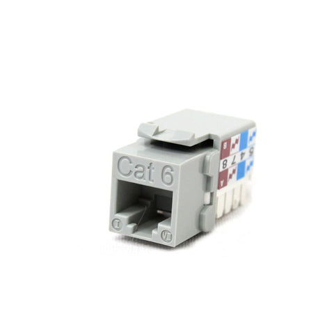 cat 6 utp keystone jack grey cmr cable