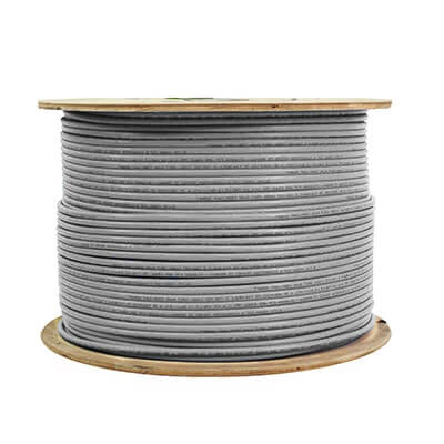 Cat6 Shielded Stranded CM cable 24awg ftp 1000ft grey