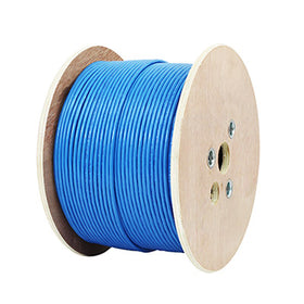 1000FT CAT6A Shielded CMP (Plenum) - 10G, 23AWG,  F/UTP, Solid, Bulk Networking Cable blue side