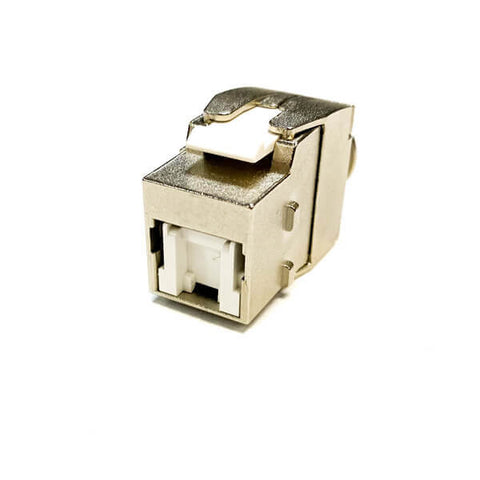 cat6a shielded slim 180 degree keystone jack