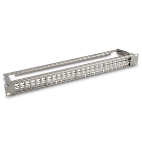 Shielded High Density Patch Panel, 1U 48-Port Blank Patch Panel