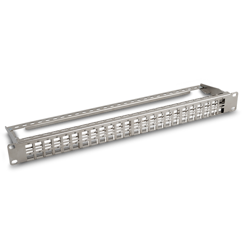 CAT6A High Density Patch Panel, 1U 48-Port Blank Patch Panel