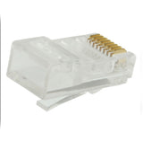 Cat 5e unshielded plug top view RJ45-8C5E