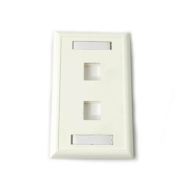 2 Port Wall Plate With Labels
