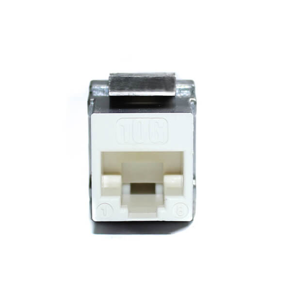 cat6a keystone jack 90 degree white