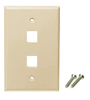 ivory color wall plate 2 port