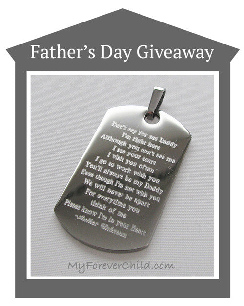 June 2017 Giveaway- Daddy of Angels Dog Tag Pendant