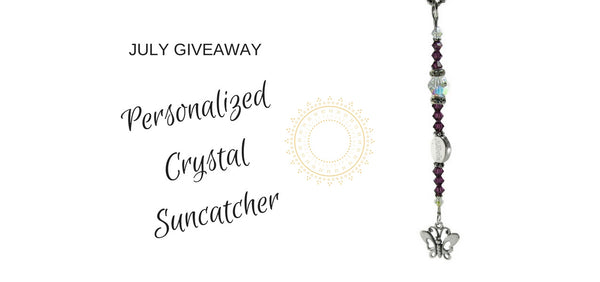 July Giveaway- Personalized Crystal Butterfly Suncatcher