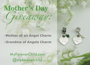 May Giveaway- Mother of an Angel Charm and Grandma of Angels Charm Jewelry