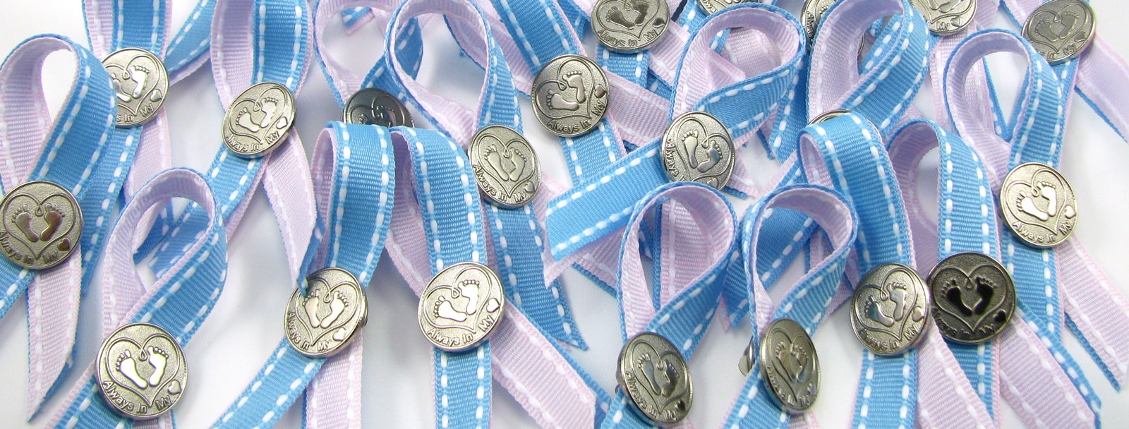 Pregnancy & Infant Loss Awareness Fabric Ribbon Pins- Limited