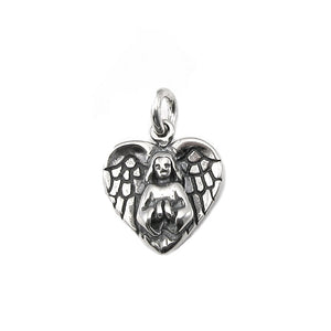 Angel Heart Charm | Sterling Silver