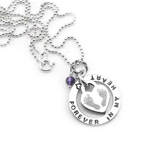 Miscarriage jewelry miscarriage gifts infant loss jewelry beadedball chain necklace sterling silver miscarriage infant loss memorial jewelry my baby footprint personalized negle Choice Image