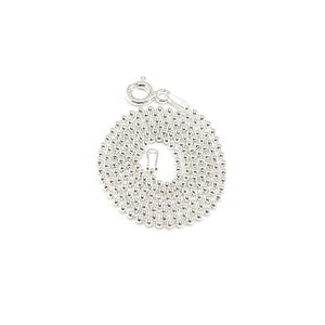 Purchase this a-la-carte sterling silver bead ball chain necklace to pair with your charms for a casual look