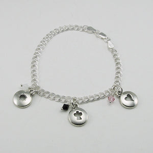 In Memory of a Beloved Child Remembrance Charm Cutout Bracelet