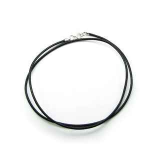 Black Leather Necklace Chain