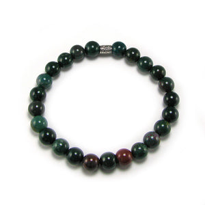 Bloodstone Gemstone Fertility-Pregnancy Bracelet- Stretch