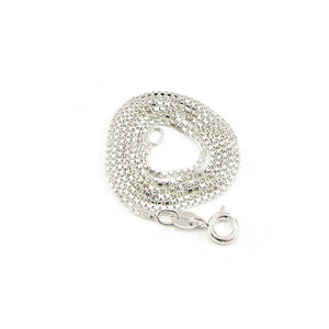 Purchase this a-la-carte sterling silver box chain necklace to pair with your charms for an elegant casual look