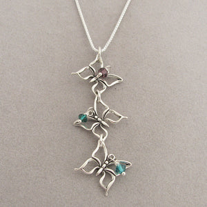 Sterling Butterfly Necklace to symbolize triplet loss or multiple miscarriages
