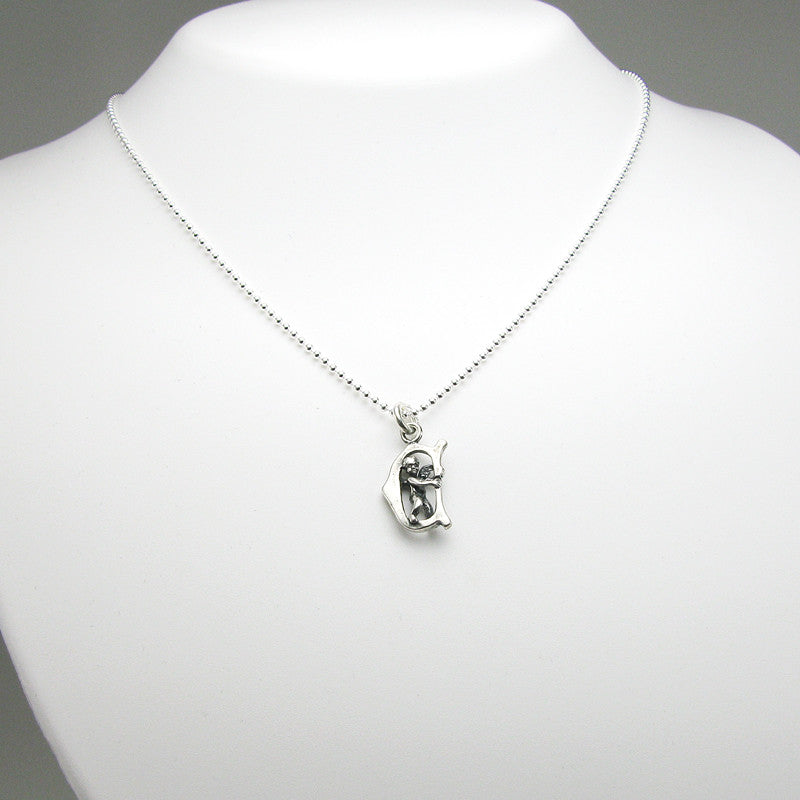 Initial charm cherub angel sterling silver my forever child initial charm cherub angel sterling silver aloadofball Images