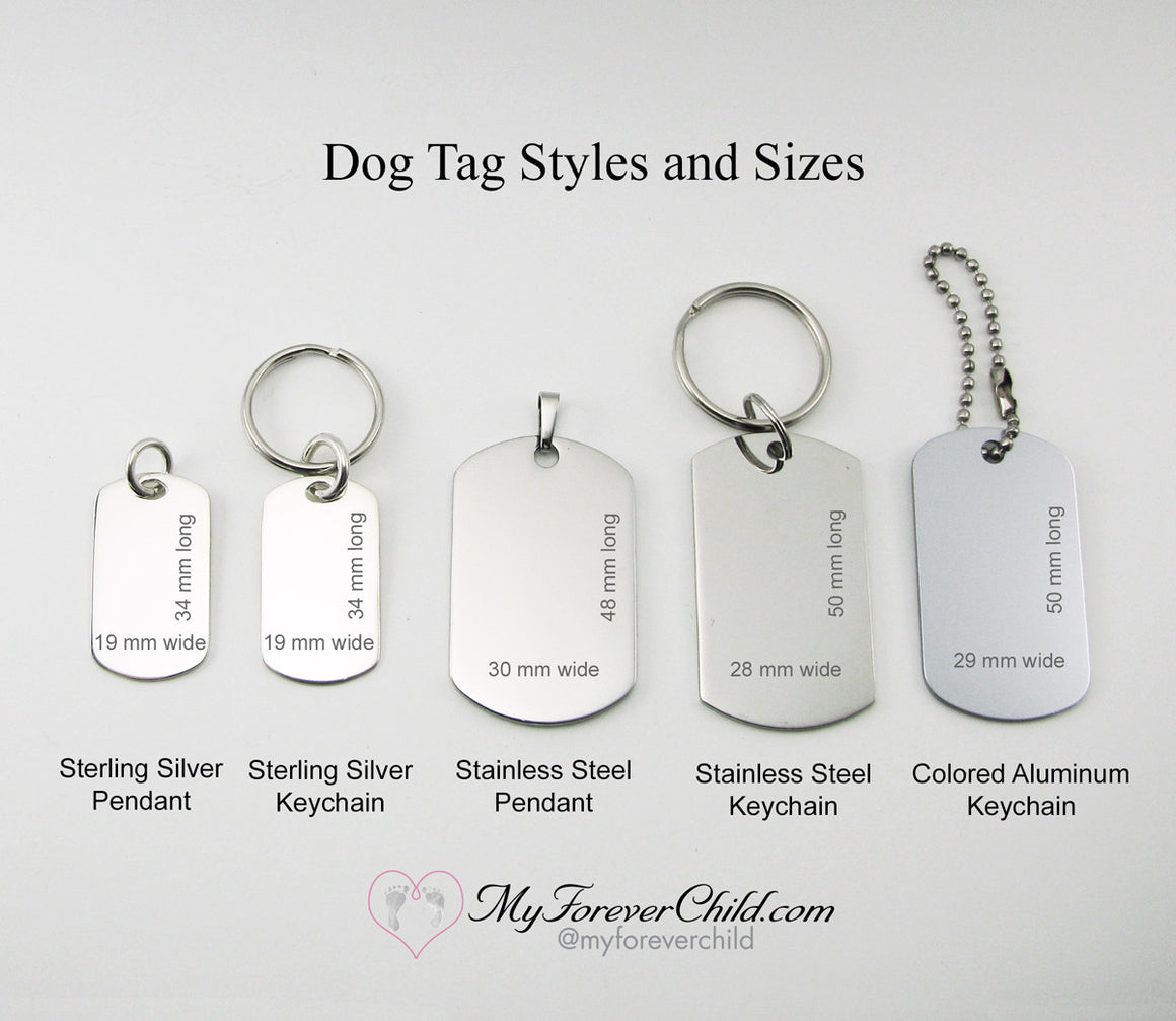 Grandpa of an Angel- Baby Angel sterling silver dog tag pendant memorial keychain