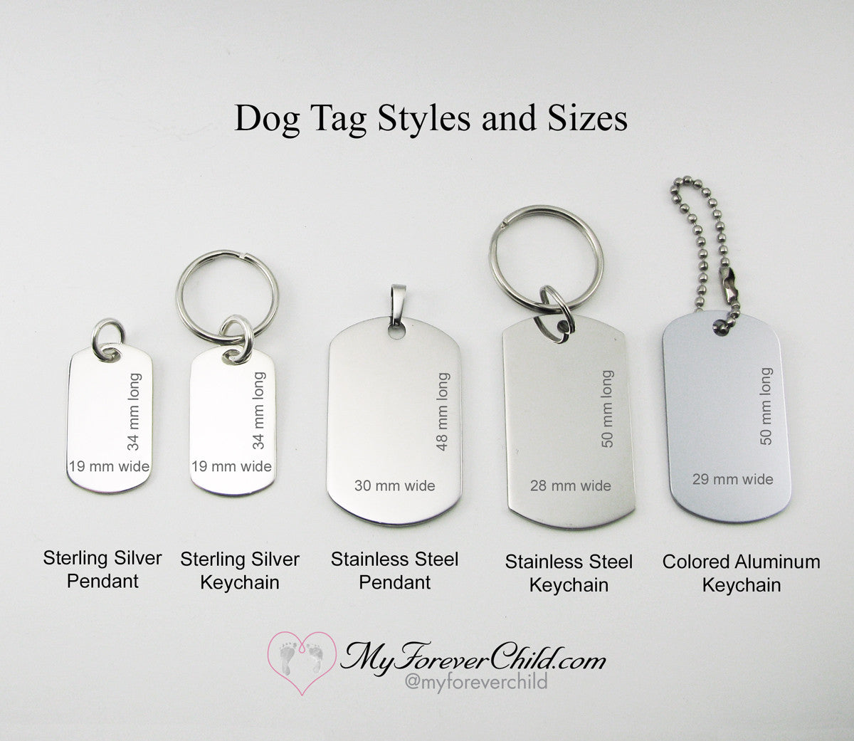 Baby Keepsake Double-Sided Hand and Foot Print Keyring Brushed Steel