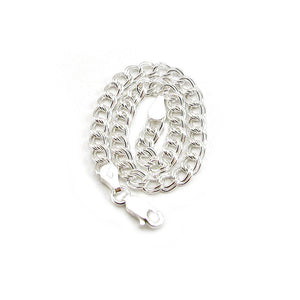 Purchase this a-la-carte sterling silver double link cable bracelet to pair with your charms charms