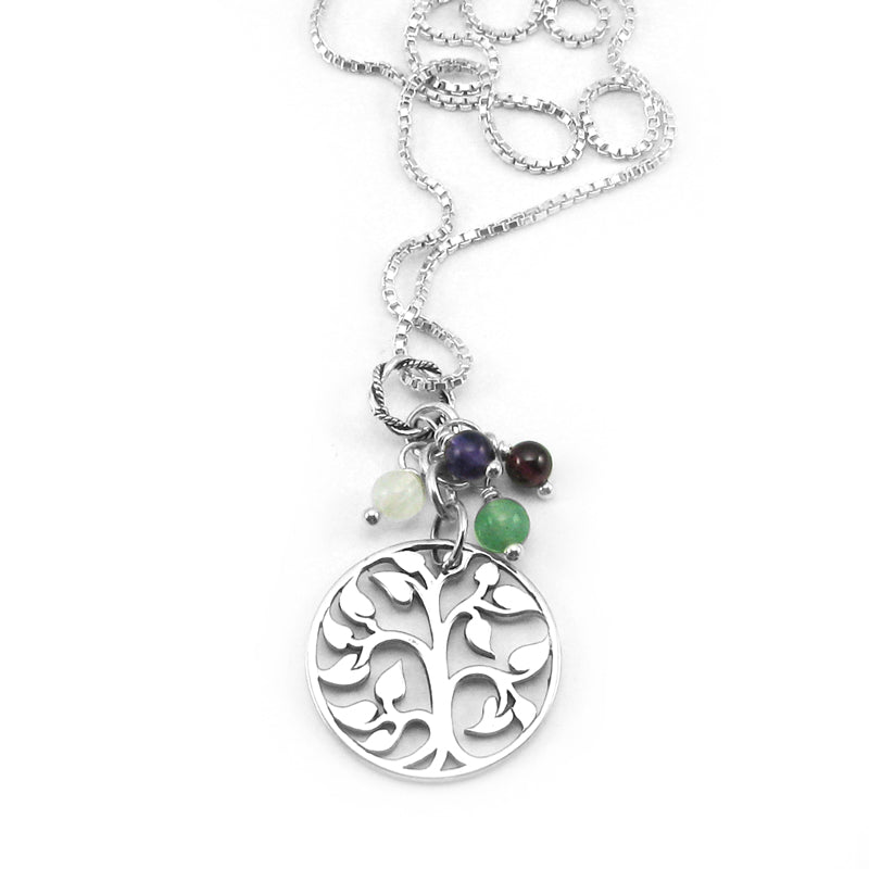 Tree of Life Family Necklace | Sterling Silver