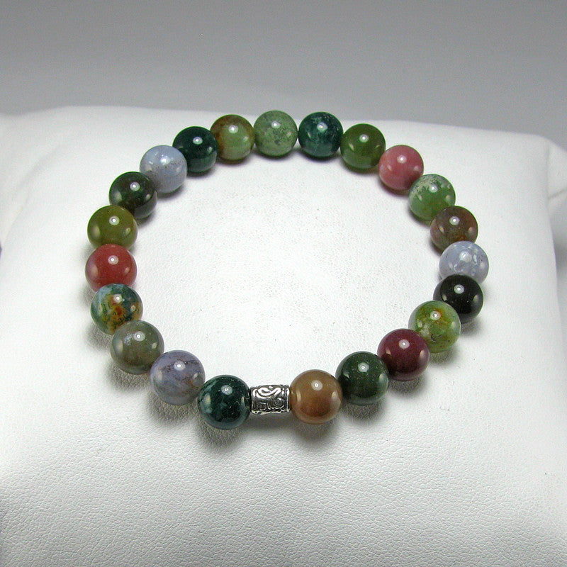 Fancy Jasper Gemstone Fertility-Pregnancy Bracelet- Stretch