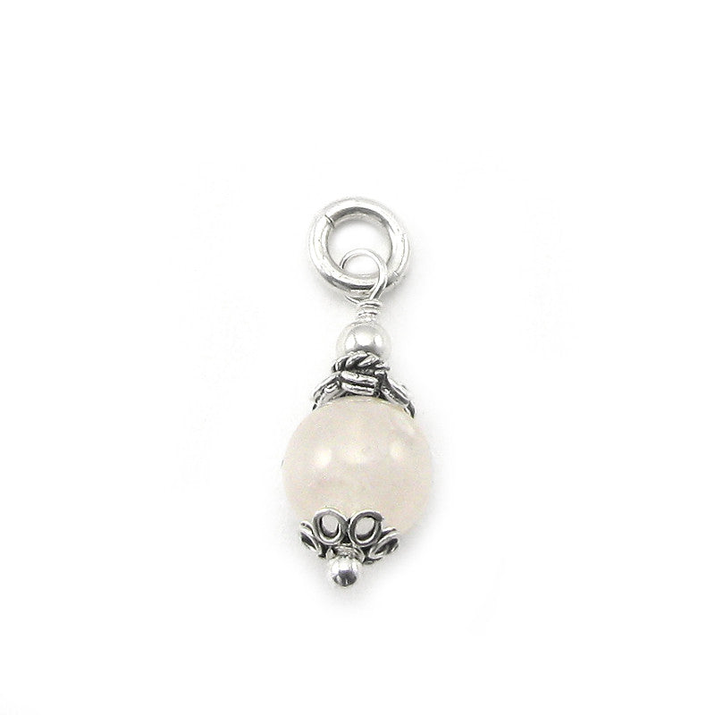 Pregnancy-Fertility Gemstone Rose Quartz Charm | Sterling Silver