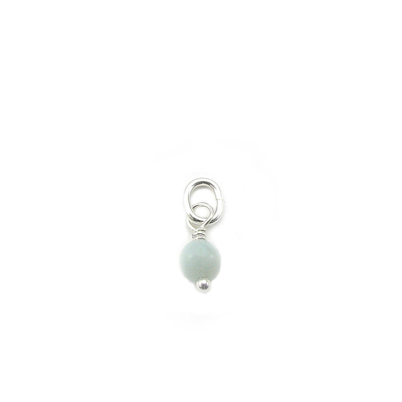 4mm Round Genuine Gemstone Dangle. Add on to charms, pendants, necklace chains and bracelets
