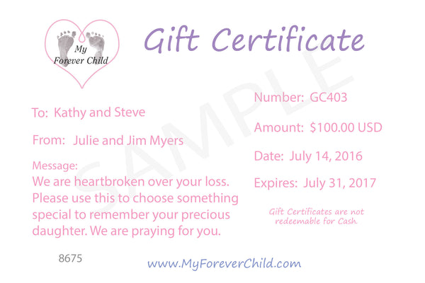 Memorial Keepsakes And Sympathy Gifts My Forever Child