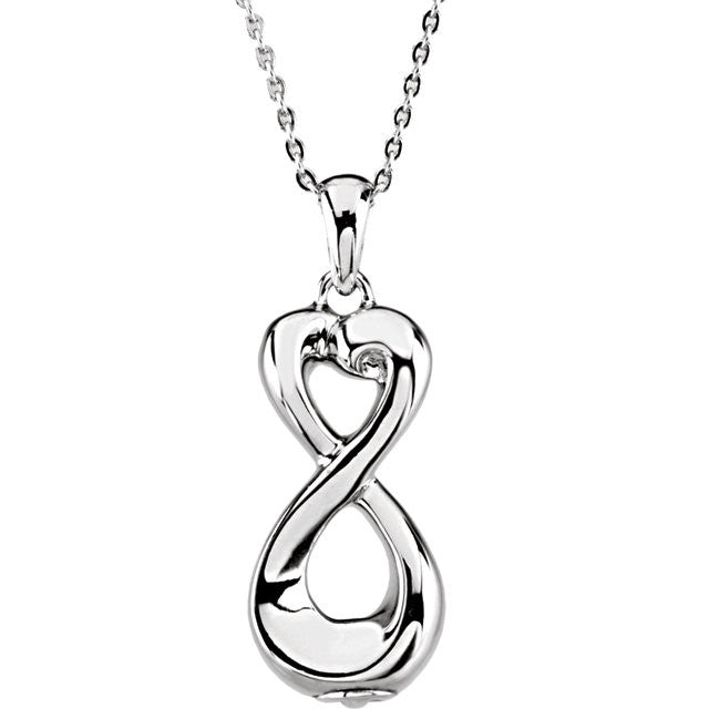 Infinite Love Cremation Necklace | Sterling Silver